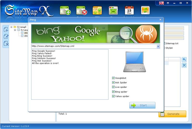 sitemap的Ping 搜索引擎
